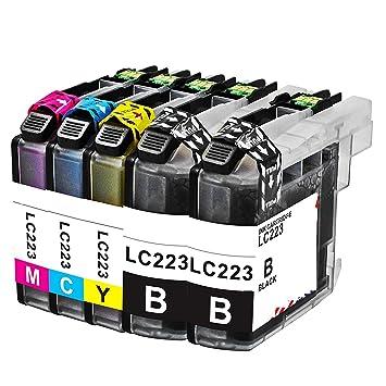 5X Brother DCP-J562DW , 5 Cartuchos de tinta compatible ...
