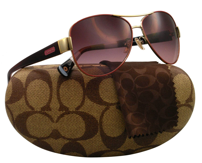 fbcc1d0ac51e2 Coach Women s Gradient HC7003-90078H-59 Gold Aviator Sunglasses  Coach   Amazon.ca  Clothing   Accessories