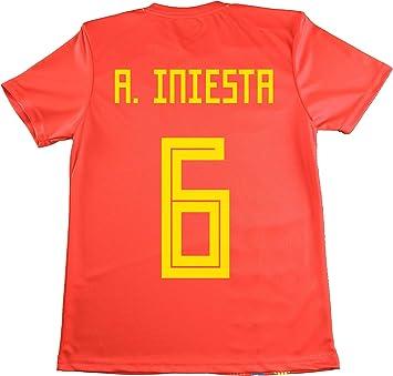 LICECIA DE LA REAL FEDERACION DE FUTBOL ESPAÑOLA Camiseta Iniesta ...