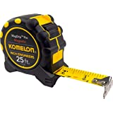 """Komelon 7125IE; 25' x 1"""" Magnetic MagGrip Pro Tape Measure with Inch/Engineer Scale, Yellow/Black"""