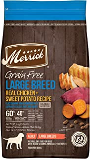 product image for Merrick Grain Free Large Breed Dry Dog Food Real Chicken & Sweet Potato Recipe - 10 lb. Bag