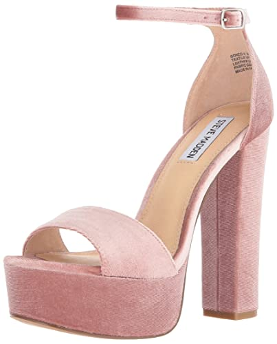 25a0b851648 Steve Madden Women s Gonzo-v Dress Sandal Blush Velvet 9.5 ...
