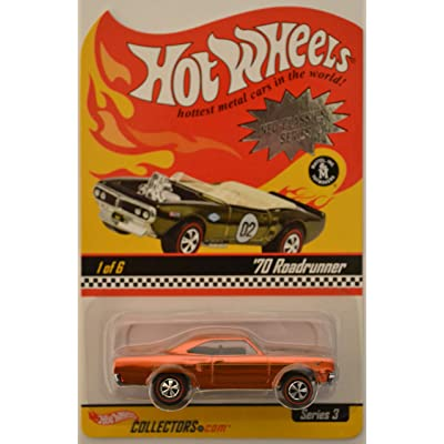 Hot Wheels '70 Roadrunner #1of 6 Redline Tires HW Neo-Classics Series 3 1:64 Scale Collectible Die Cast Model Car: Toys & Games