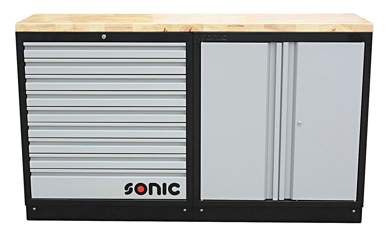 Sonic 4731705 MSS® 9 Schubladen Schrank mit Edelstahl Top Blade, 86 ...