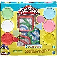 Hasbro Play-Doh Fundamentals - 9 Shape Tools plus 6 Colors of Play Dough