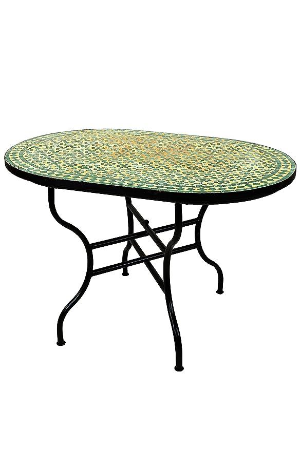 Original marroquí mosaico mesa Jardín Mesa 120 x 80 cm Grande ...