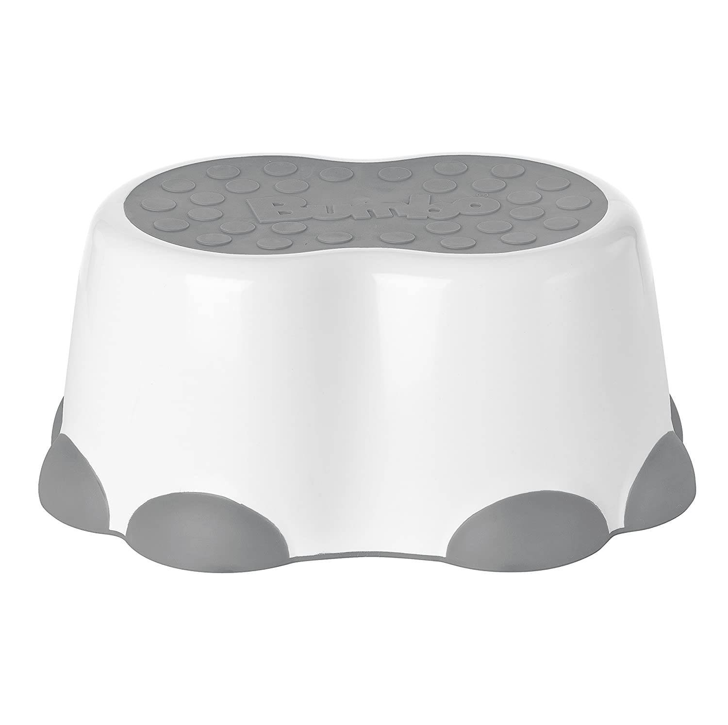 Bumbo Step Stool, Cool Grey, White B10090