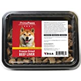 Prime Paws Freeze Dried Raw Beef Liver Dog Treats – 100% Pure Beef Liver Treats for Snacking or Training. 10 oz. pack