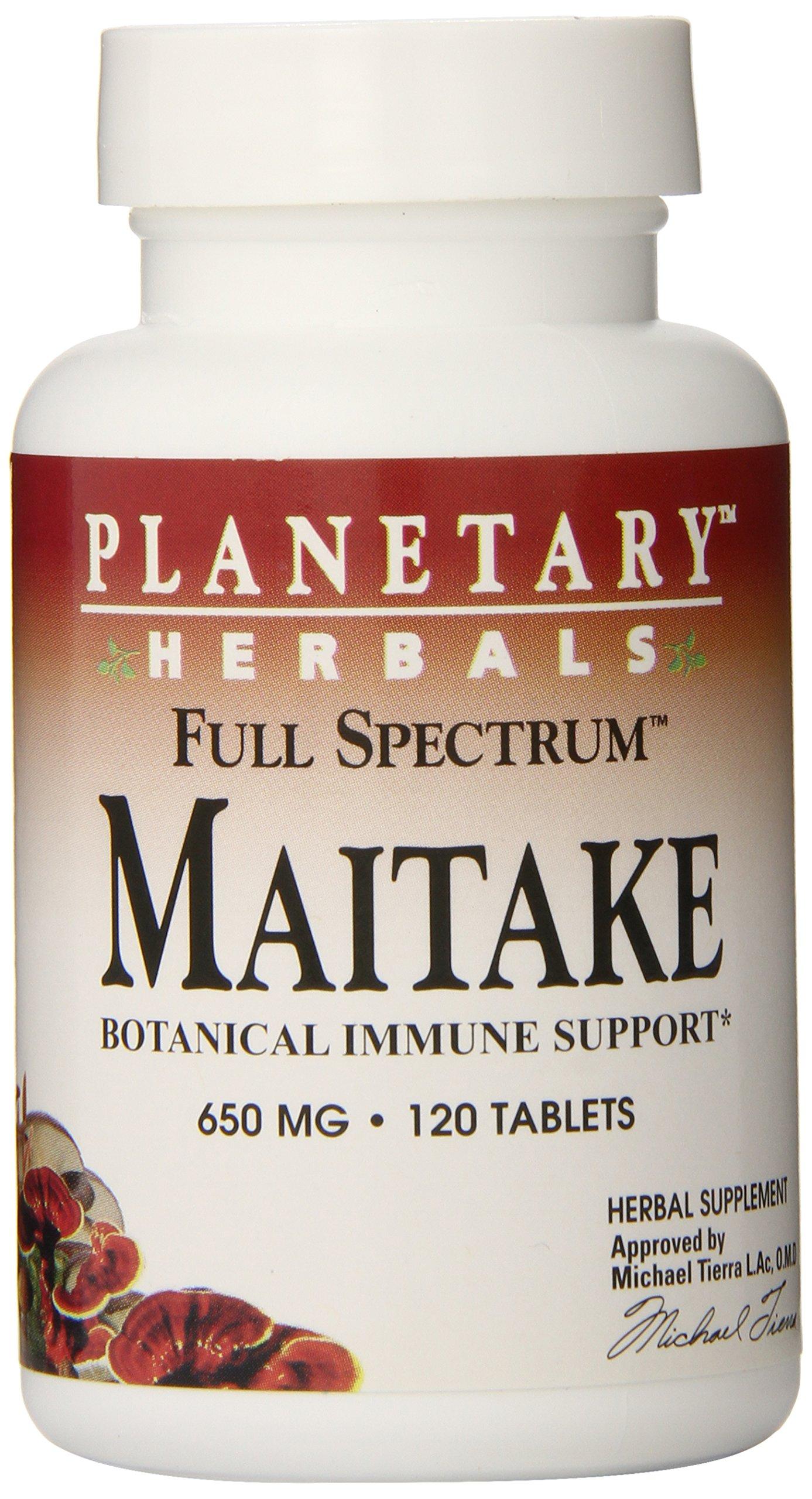 Planetary Herbals Maitake Full Spectrum 650mg, Botanical Immune Support