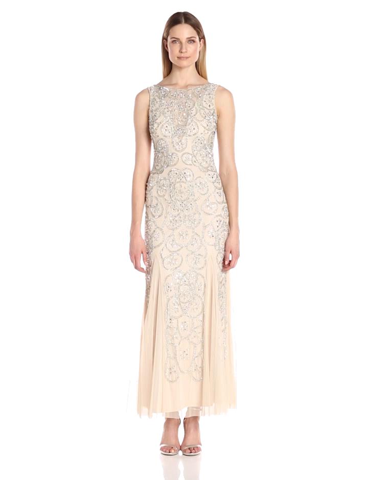 Aidan by Aidan Mattox Women\'s Beaded Illusion Gown at Amazon Women\'s ...