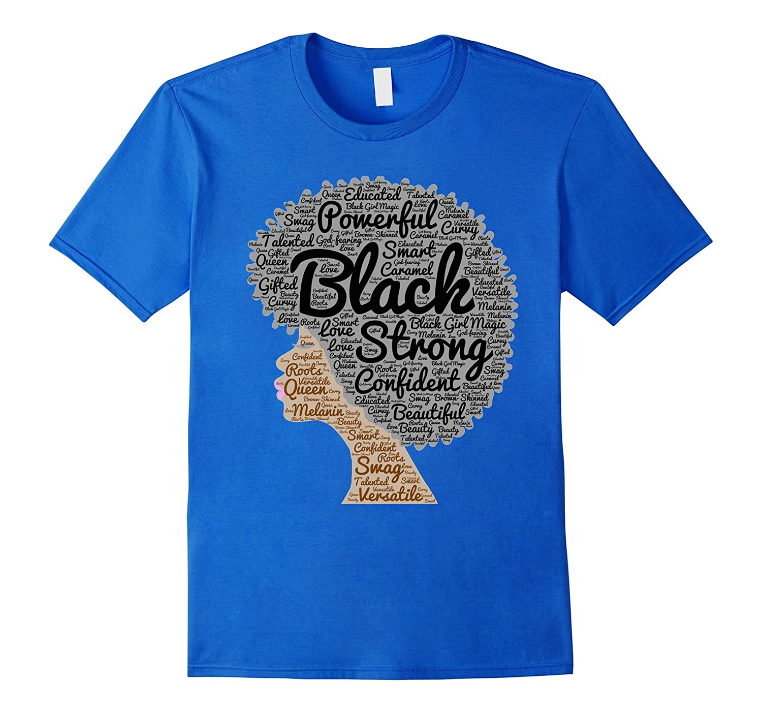 b262a4a71 Afro Word Art Natural Hair T-Shirt for Black Women-PL – Polozatee
