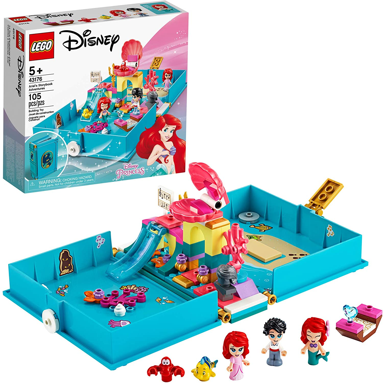LEGO Disney Ariel's Storybook Adventures 43176 Creative Little Mermaid Building Kit, New 2020 (105 Pieces)