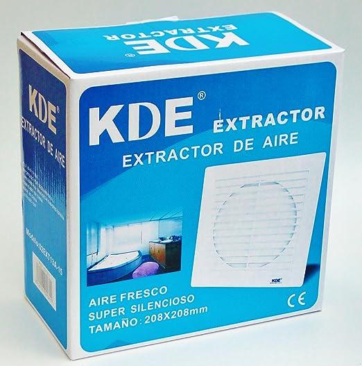 Extractor de aire super silencioso (aspirador) para ventilación 25W 208x208mm: Amazon.es: Hogar