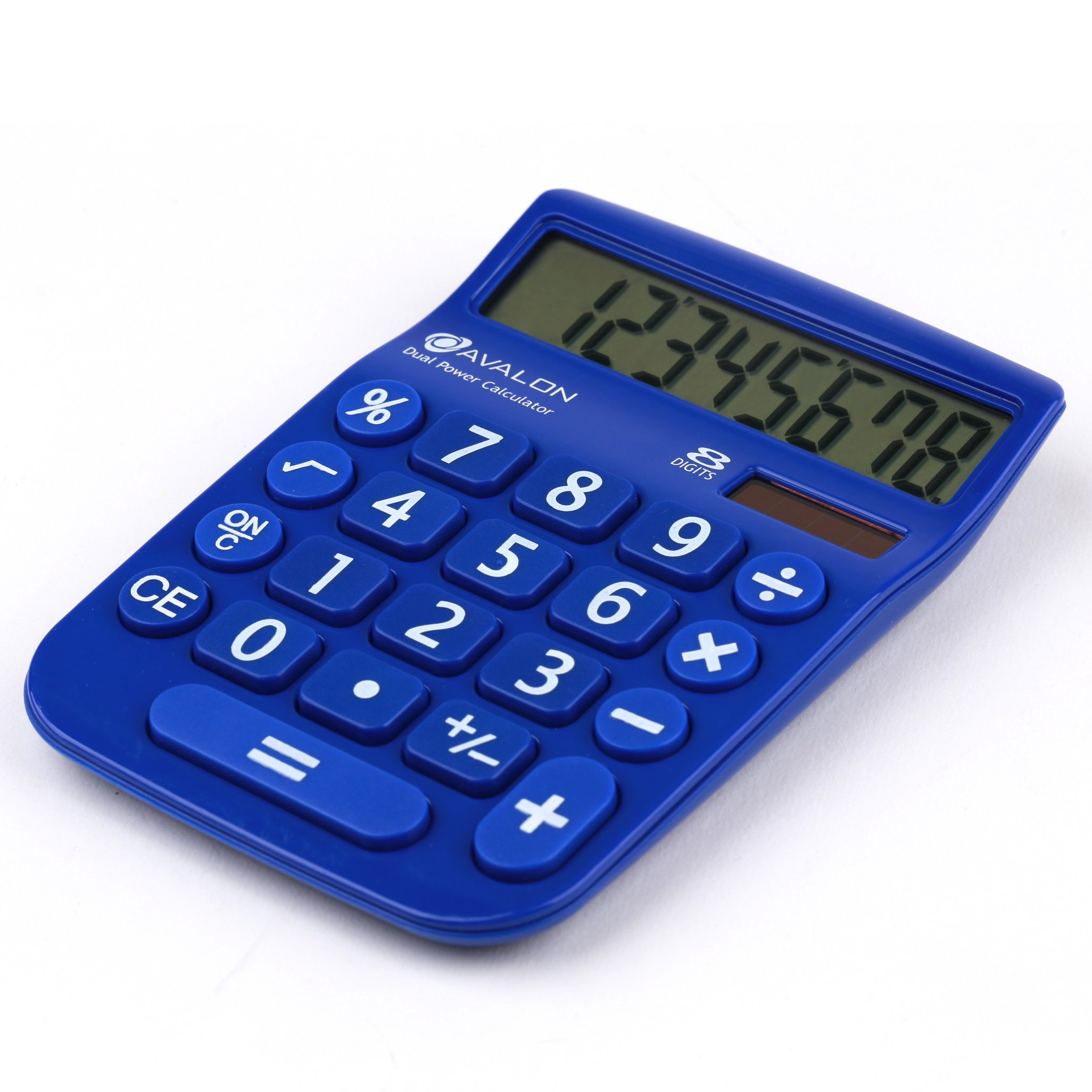 Office + Style 8 Digit Dual Powered Calculator with Large LCD Display, Blue (Pack of 6) by Office Style (Image #1)