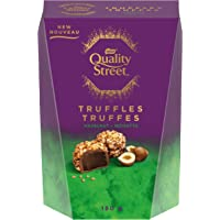 Nestle Quality Street Hazelnut Milk Chocolate Truffles, Christmas & Holiday Box, 180 g