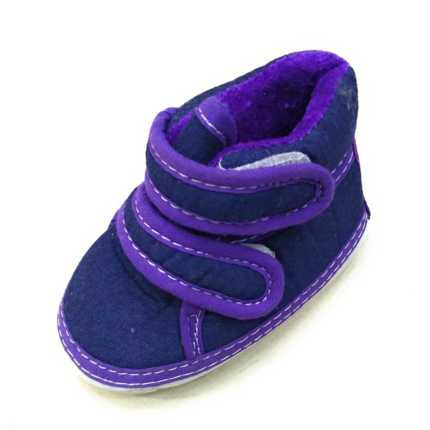 ANCHOR Chu Chu Purple Shoes with Double Strap for Baby Boys 18 24