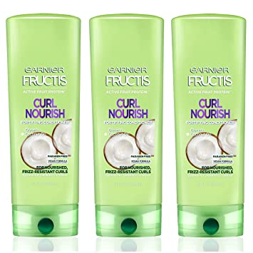 f5723429f2f2 Garnier Fructis Curl Nourish Paraben-free Conditioner made with Coconut Oil  and Glycerin for stronger,...