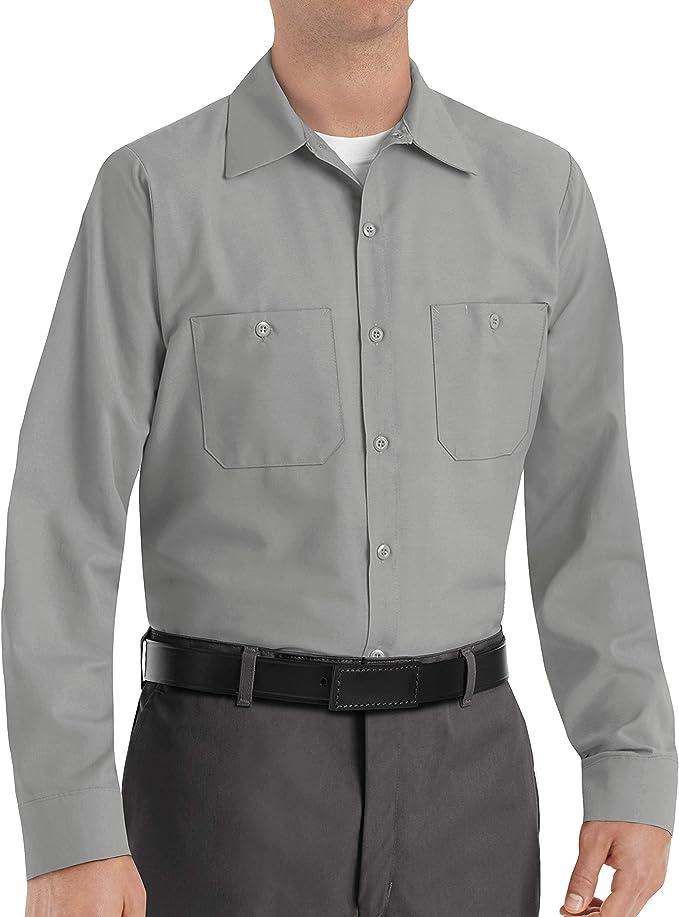 Red Kap Camisa de Trabajo de Manga Larga Industrial para Hombre - Gris - XXL: Amazon.es: Ropa y accesorios