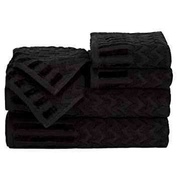 Amazoncom Lavish Home 6 Piece Cotton Deluxe Plush Bath Towel Set