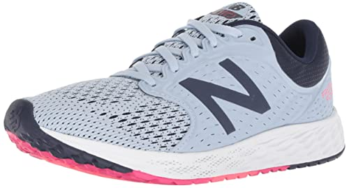 New Balance Womens Zante V4 Fresh Foam Running Shoe, White/Navy, ...