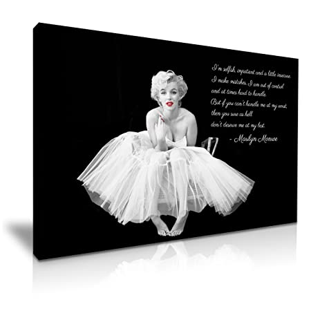 Marilyn Monroe Ballerina Quote Red Lips Canvas Wall Art Picture Print 76 Cm X 50