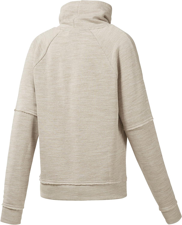 Reebok Damen Te Marble Cowl Neck Sweatshirt