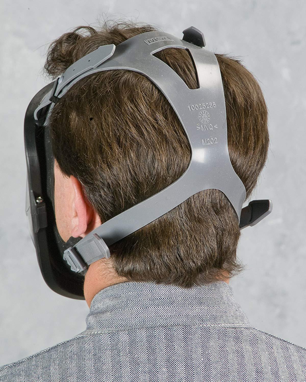 Large MSA 10083790 Advantage 4200 Series Full-Facepiece Silicone Respirator with Rubber Head Harness
