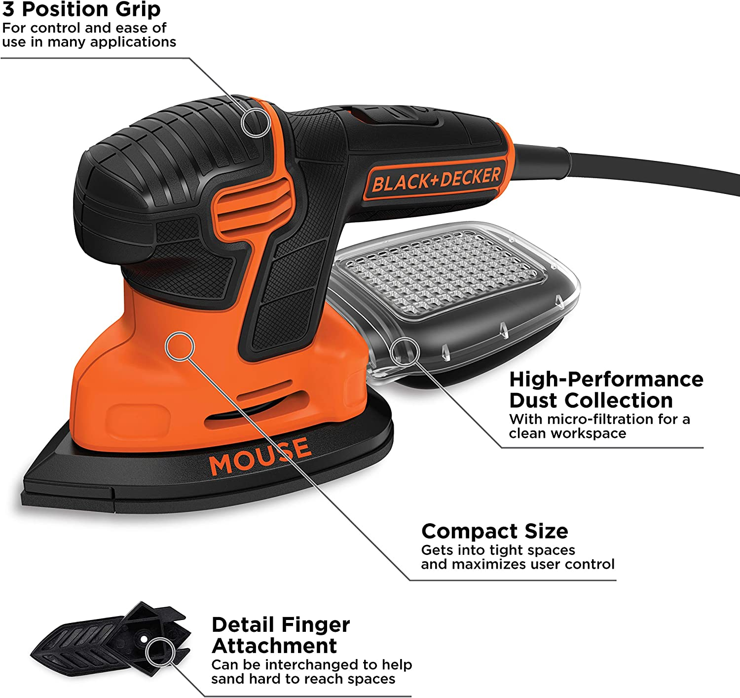 BLACK+DECKER BDEMS600 Detail Sanders product image 2