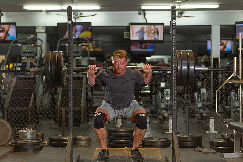 Rodilla Apoyo funda (1) - compresión para levantamiento de pesas, levantamiento de potencia, Crossfit, sentadillas, alivio del dolor y running - por Rip ...