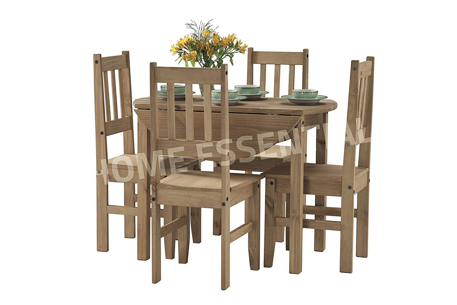 Dining Room Sets Cor99 Mexican Pine Drop Leaf Table With Four Chairs Supplied By Belfast