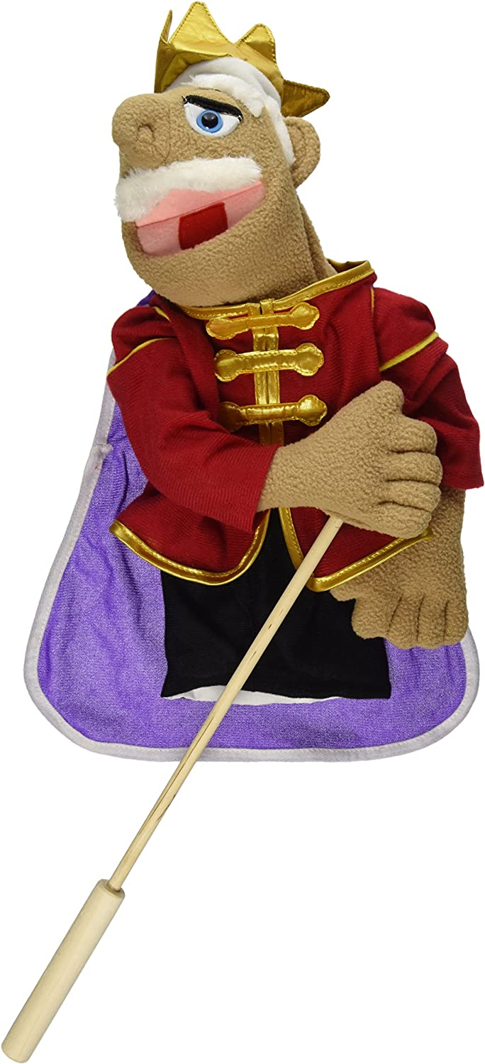 Melissa & Doug King Puppet with Detachable Wooden Rod (Puppets & Puppet Theaters, Animated Gestures, Inspires Creativity, Great Gift for Girls and Boys - Best for 3, 4, 5 Year Olds and Up)