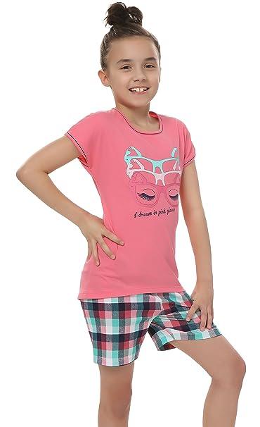 Italian Fashion IF Pijamas para niñas Olivia 0227 (Rosa, 86-92)