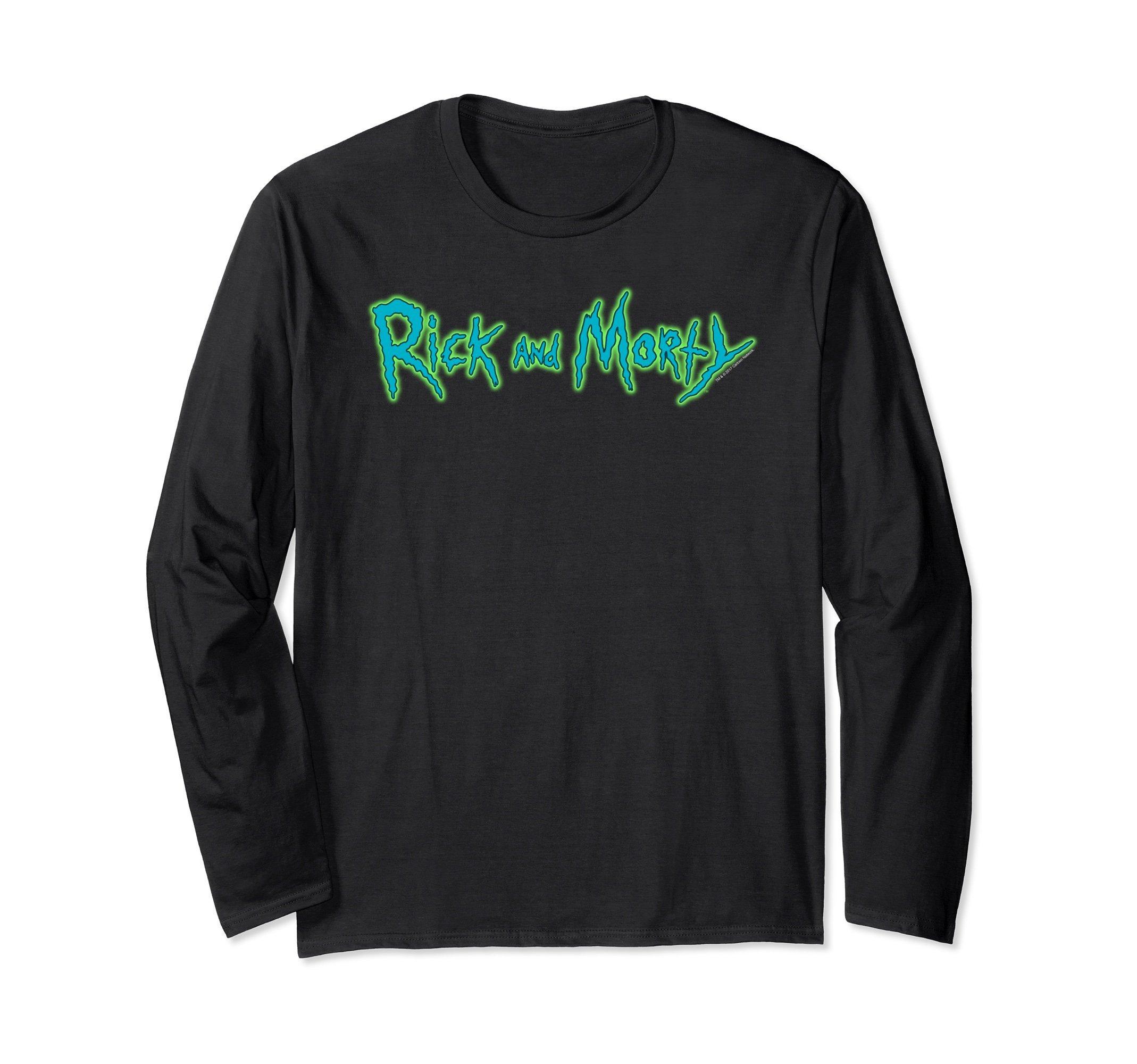 Rick Morty Horizontal Logo Shirts