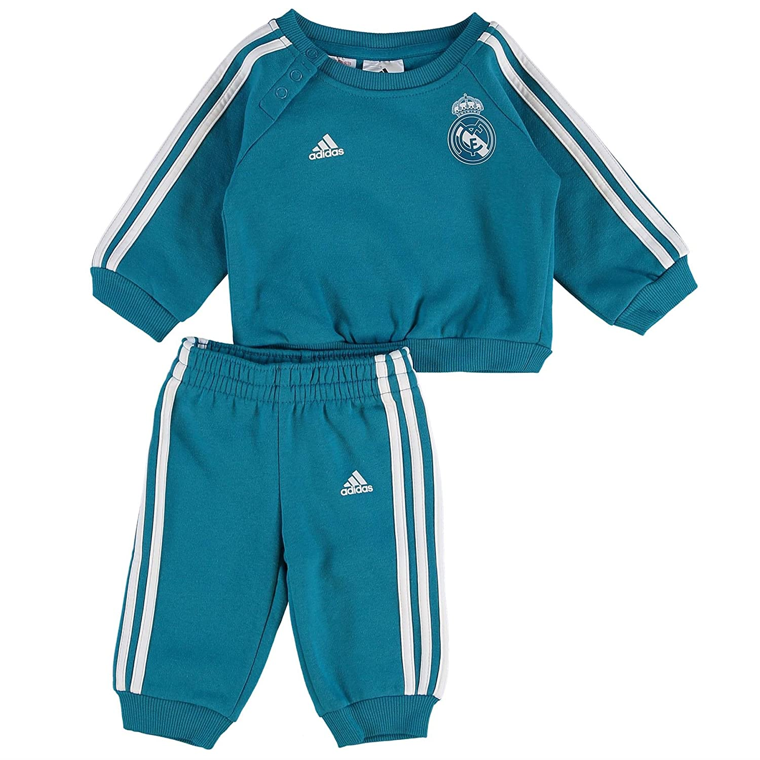 0 Kinder Real Madrid 3-Streifen Baby Jogger Trainingsanzug Adidas BR2480