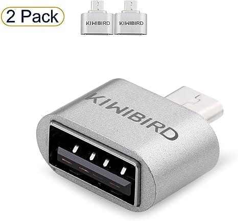 KiwiBird Micro USB (Macho) a USB 2.0 (Hembra) Adaptador de Alta ...