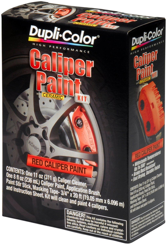 Dupli-Color (BCP400-2 PK Red Brake Caliper Paint Kit - 8 oz. Aerosol, (Case of 2)