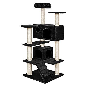 TecTake Rascador para Gatos Árbol para Gatos Trepar Sisal Juguetes (Negro | no. 402225): Amazon.es: Hogar