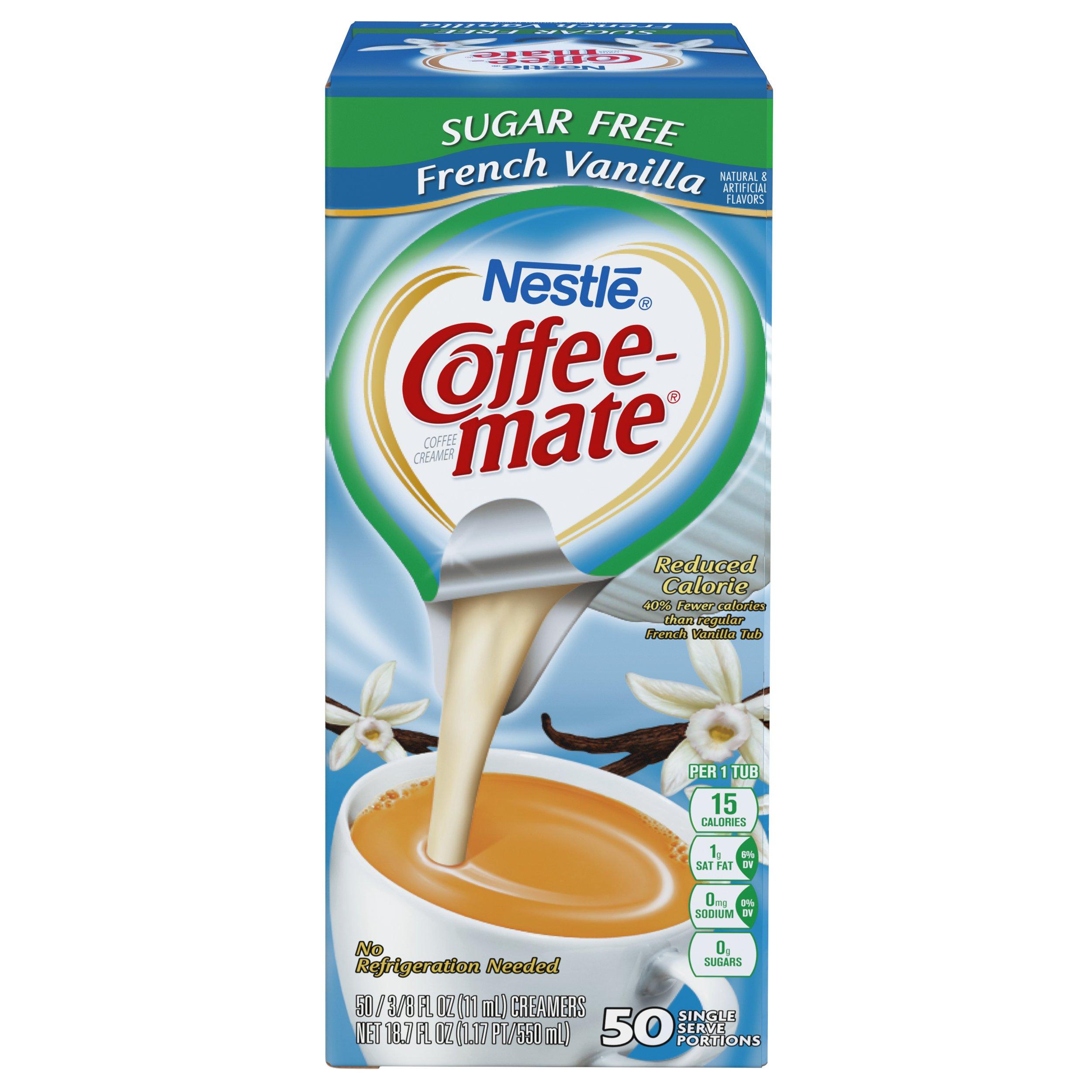 NESTLE COFFEE-MATE Coffee Creamer, Sugar Free French Vanilla, liquid creamer singles, Pack of 50 by Nestle Coffee Mate (Image #4)