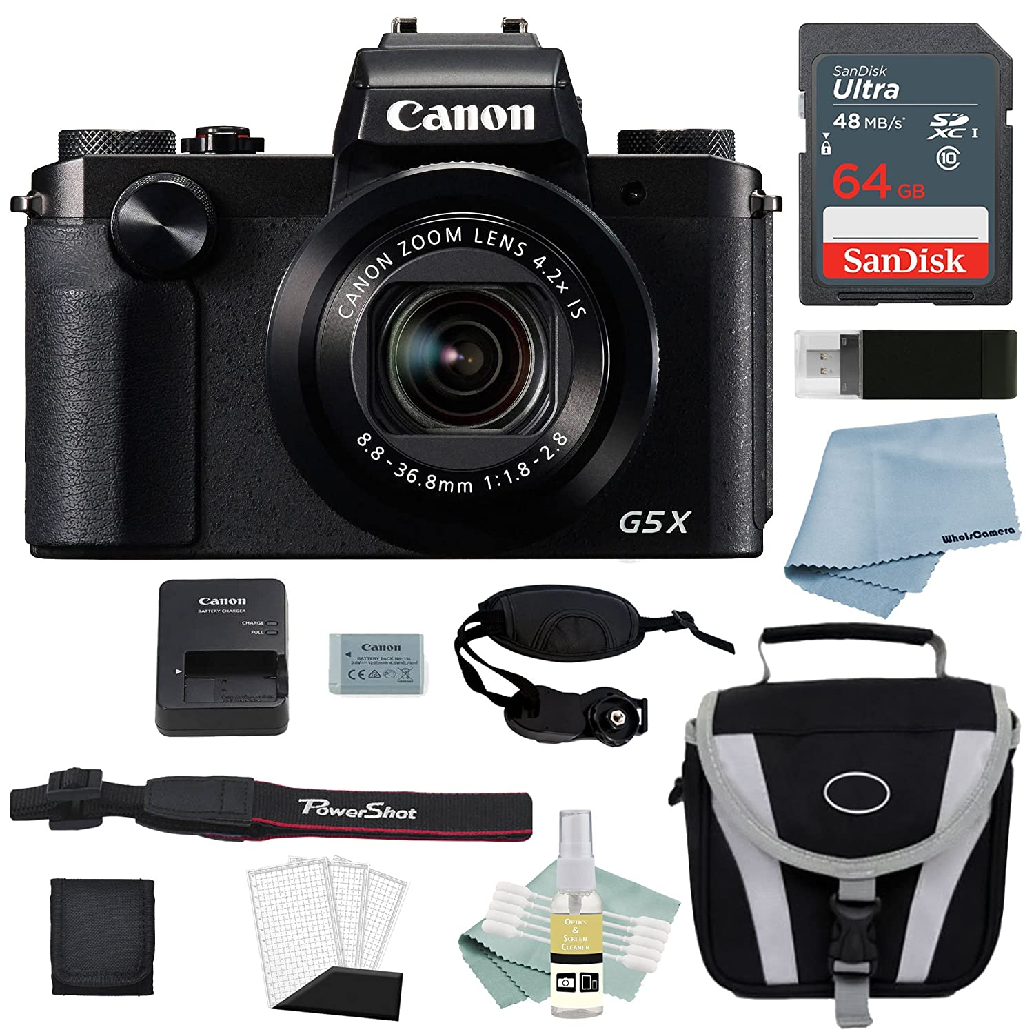Canon G5x Digital Camera Bundle Powershot Kamera Pocket Deluxe Accessory Kit Including Everything You Need To Get Started Photo