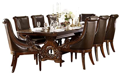 Chambord French Country 9PC Dining Set Table U0026 8 Chair In Dark Cherry