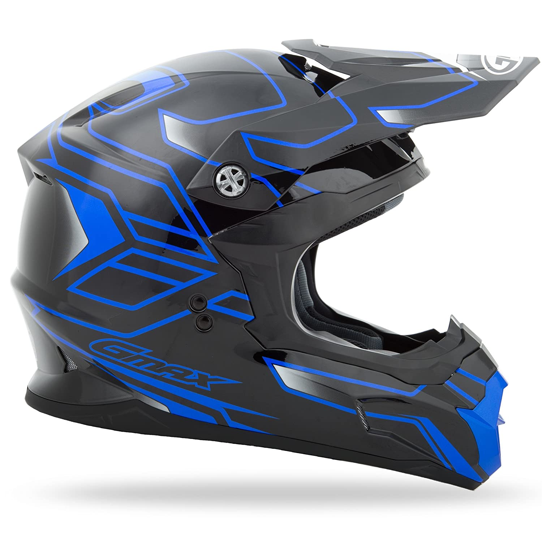GMAX Unisex-Adult Full-face Style G3862216N TC-2 Mx86 Step Helmet Black//Blue l Large G3862216NTC-2