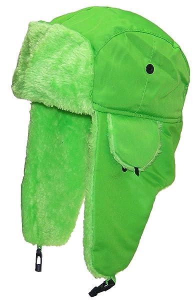 Best Winter Hats Big Kids Lightweight Neon Russian Trooper Faux Fur Hat(One  Size b9646fa6b7c