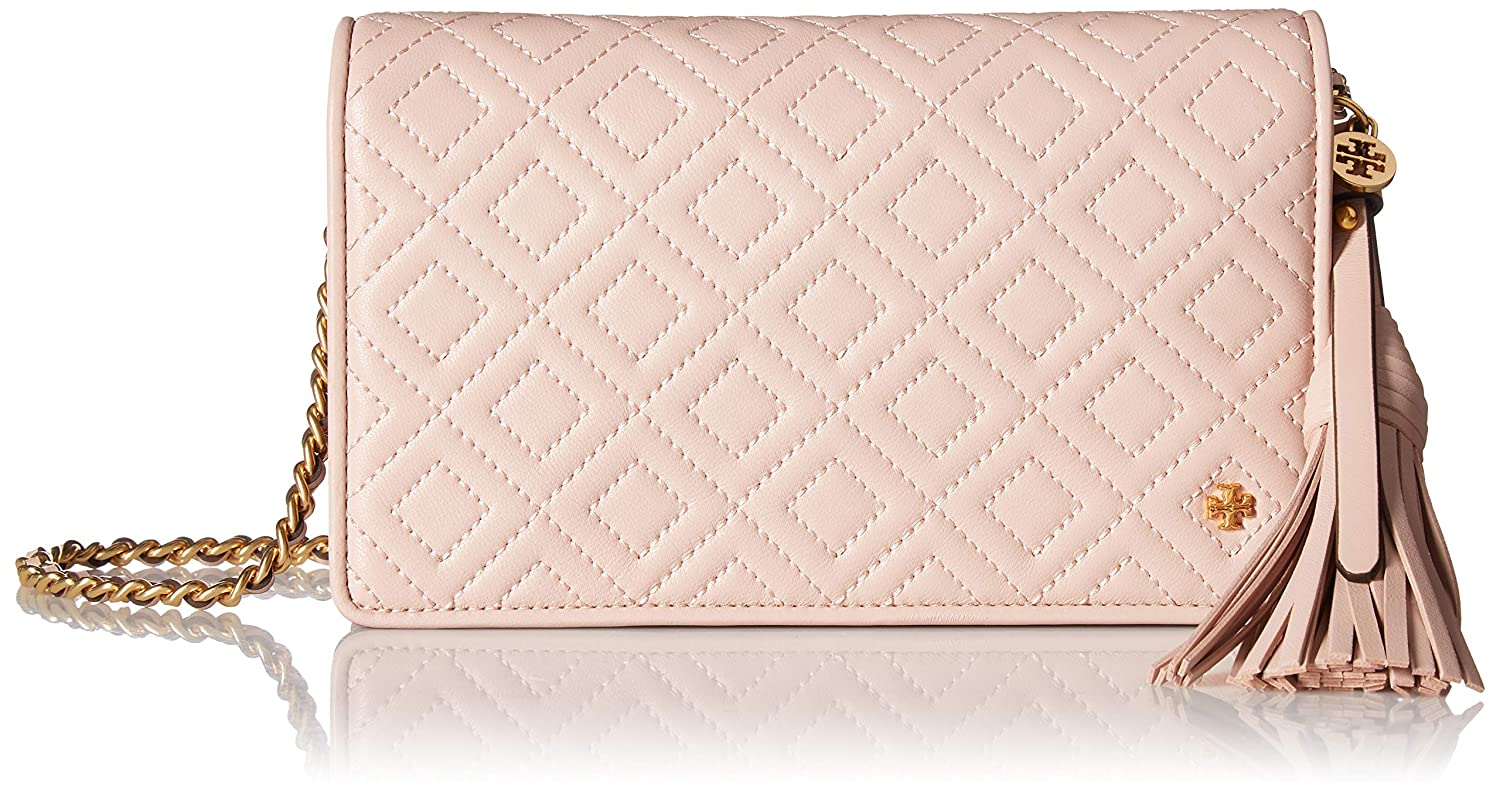f69d4af7b80 Tory Burch Women s Fleming Flat Wallet Cross Body Bag