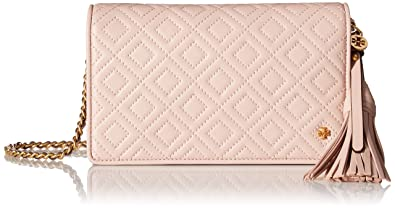 784b55fba02 Image Unavailable. Image not available for. Color  Tory Burch Women s Fleming  Flat Wallet Cross Body Bag ...