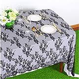 Lace Tablecloth Rectangular 60x120 Black EmbroideredLaceTableclothThanksgiving Table Cover ElegantBirthdayTableDecorati