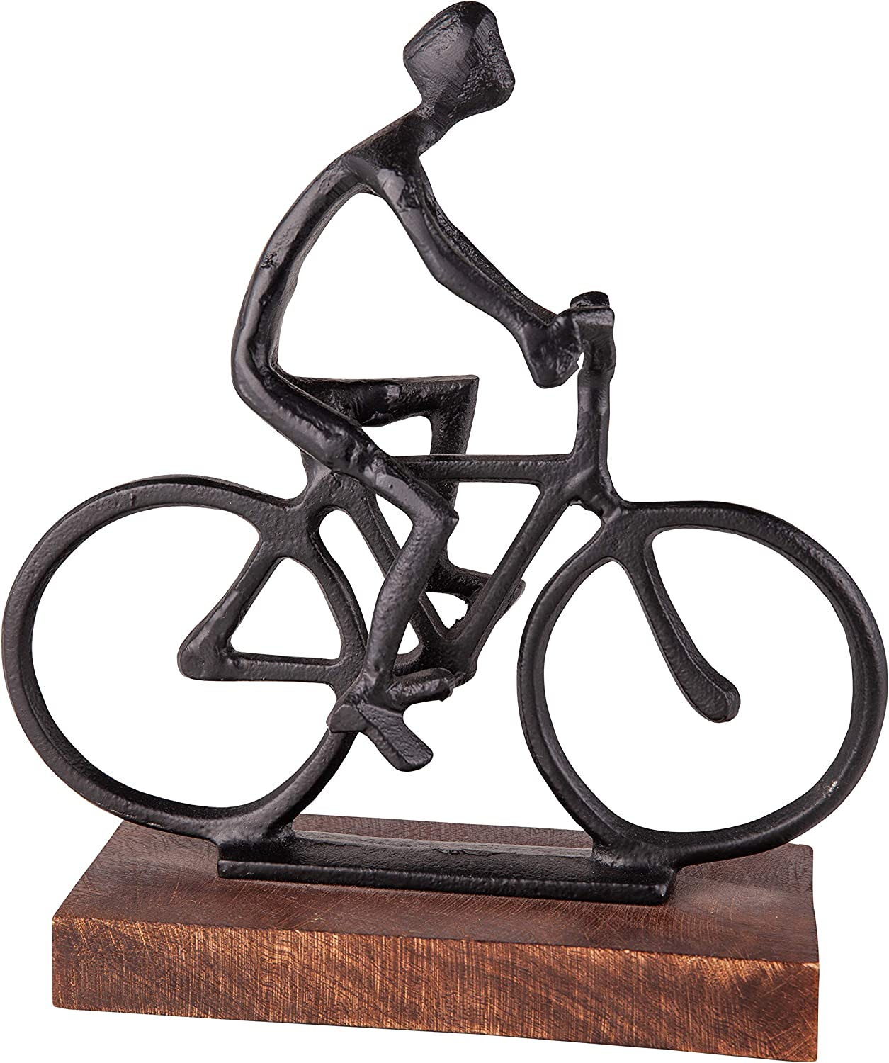 Danya B Bike Ride Cruiser Sculpture, Statues for Home Décor, Aluminum with Wooden Base, Modern Design for Accent Decoration in Home or Office and Gift for Bike Enthusiast