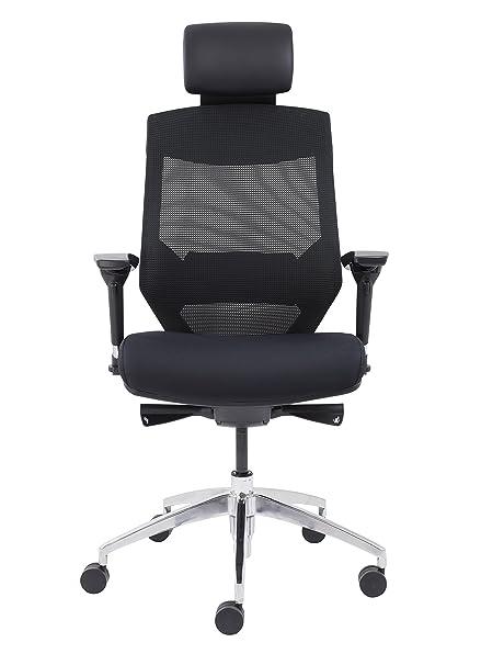 adjustable lumbar support office chair. Office Hippo Executive Mesh High Back Chair, Headrest, Adjustable Lumbar Support, Support Chair