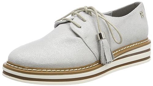 Refresh 64065, Zapatos de Cordones Oxford para Mujer, Plateado (Silver), 39 EU