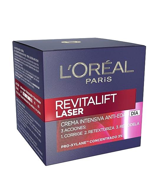 LOreal Paris Dermo Expertise Crema de Día Anti-Edad Efecto Piel Nueva Revitalift Láser, con Proxylane - 50 ml