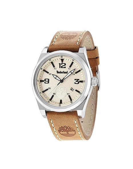 Timberland reloj Knowles sólo tiempo 14641JS-07 Beige TBL.: Amazon.es: Relojes
